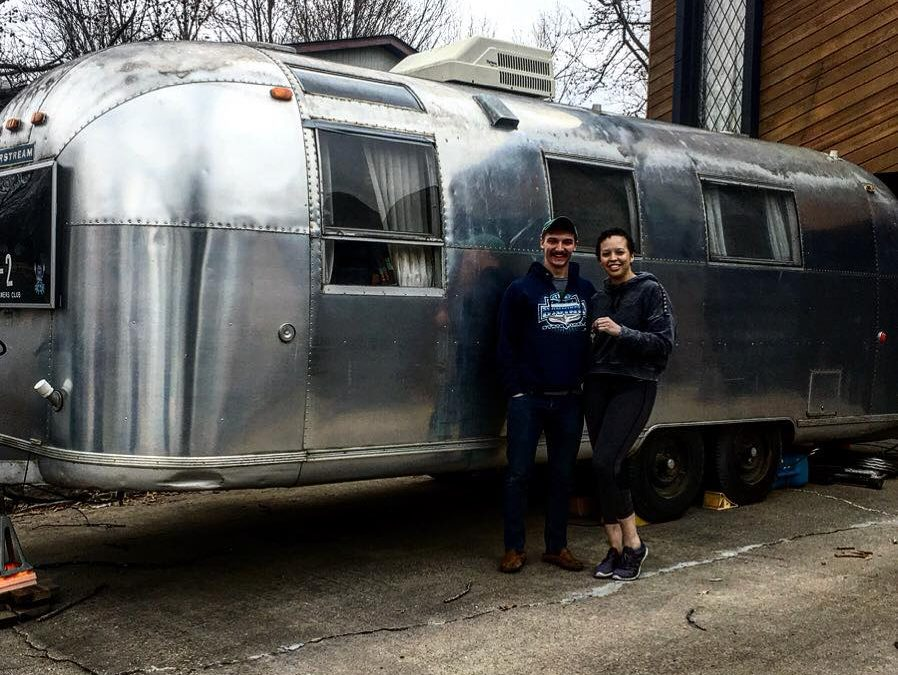 Minimizing your life to maximize your happiness — two people, their pets and an Airstream!